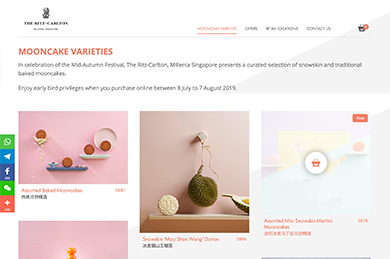 Ritz Carlton Mooncake 2018 - Web Development